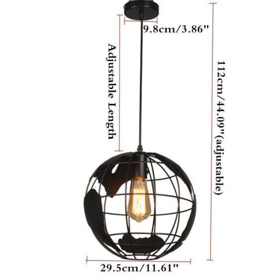 lampe-globe-terrestre-plafonnier-suspension-eclair