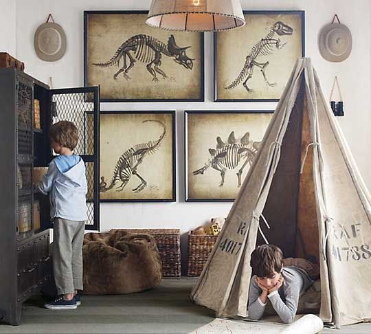 tente-explorateur-enfant-chambre-dinosaure-deco
